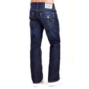 TRUE RELIGION Flap Pocket Blue Bootcut Jeans